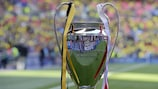 The prize at the end of it all: the UEFA Champions League trophy
