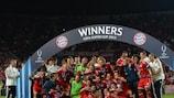 Il Bayern festeggia la vittoria della Supercoppa UEFA 2013