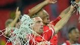 Franck Ribéry festeggia dopo il trionfo del Bayern nella finale di UEFA Champions League a Wembley