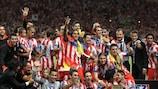 Il Club Atlético de Madrid festeggia
