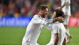 Marcelo (right) and Sergio Ramos both scored for Madrid