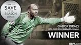 Gábor Király wins UEFA.com Save of the Season