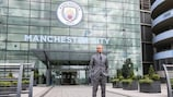 Josep Guardiola is preparing for his first competitive game as Manchester City manager