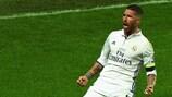 Sergio Ramos festeggia il gol che portato la sfida ai supplementari