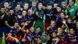 Vainqueur à 5 reprises, le Barça est le club le plus titré en Super Coupe, en compagnie de l'AC Milan