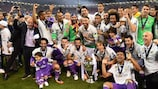 Real Madrid with the trophy once again