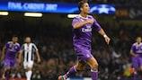 Cristiano Ronaldo celebrates opening the scoring