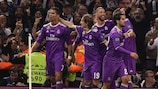 Real Madrid celebrate their 500th UEFA Champions League goal