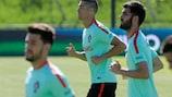 L'équipe du Portugal à l'entraînement
