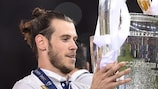Gareth Bale won the trophy in his home town