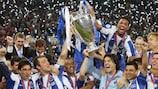 Porto celebrate after winning the 2004 UEFA Champions League