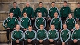 The 18 UEFA EURO 2016 referees at UEFA's recent winter course in Cyprus