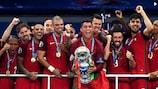 Portugal celebrate their UEFA EURO 2016 title
