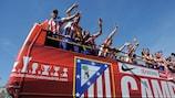 Atlético feiert den Finalsieg in der letzten Saison