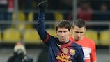 Messi shines as Barcelona progress at Spartak