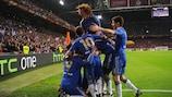 """Футболисты """"Челси"""" ликуют в Амстердаме"""