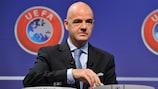 Жеребьевку провел генсек УЕФА Джанни Инфантино