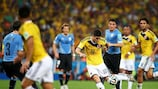 James Rodríguez has scored five goals at the FIFA World Cup in Brazil, including this volley