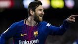 Lionel Messi marcou pelo Barcelona frente ao Levante