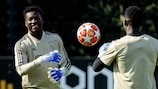 André Onana (left) is hoping to deny Juventus their wish of an away goal