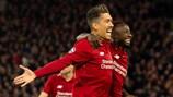 La joie des Reds Roberto Firmino et Sadio Mané