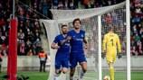 Единственный гол в столице Чехии забил Маркос Алонсо