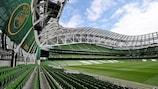 La Dublin Arena aux couleurs de la finale de l'UEFA Europa League