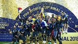 France celebrate their 2018 World Cup victory