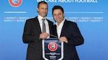 UEFA President meets Football Federation of North Macedonia President