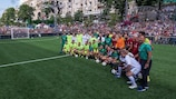 Teams line up at the 2018 Ultimate Champions tournament in Kyiv