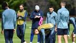Chelsea training on Wednesday