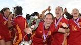 Eva Navarro leads Spain's celebrations