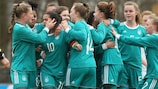 Germany celebrate scoring in their qualifying-clinchiing win against the Republic of Ireland