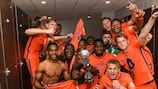The Netherlands celebrate after winning the 2018 final