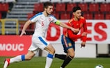 Action from holders Spain's win against the Czech Republic