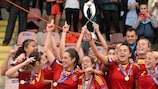 Spain won their third title in Iceland two years ago