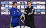 A seleccionadora de Espanha, María Antonia Is, ao lado da colega alemã, Anouschka Bernhard