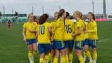 A Suécia foi uma das equipas e qualificar-se com um registo 100 por cento vitorioso
