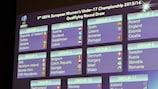 Il tabellone del turno di qualificazione degli Europei under 17 Femminili 2015/16