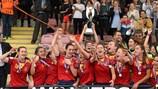 Сборная Испании после победы в финале