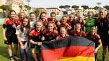 Germany celebrate winning the group