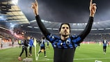 Lior Refaelov celebrates his late winner for Club Brugge