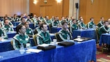 Referees are being given sound advice about their responsibilities at the UEFA winter courses in Athens