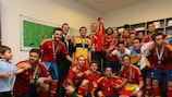 Del Bosque reflects on 'historic win' for Spain