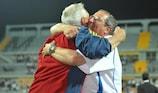Juan Santisteban (à esquerda) ficou surpreendido pela forma como a Espanha jogou