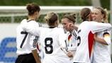 A Alemanha comemora a vitória sobre a França, que valeu a passagem à segunda pré-eliminatória