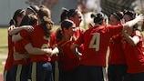 Spanien konnte gegen Dänemark fünfmal feiern