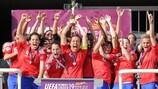 France lift the trophy in Skopje