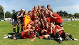 A Espanha começa a defesa do título europeu feminino de Sub-17 em Outubro