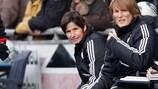 Bettina Wiegmann betreut die deutsche U19 bei der zweiten Qualifikationsrunde der UEFA U19-EURO interimsweise als Cheftrainerin